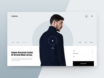 Fashion Store Iceberg website web ux ui interface man store shop ecommerce style fashion concept