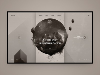 Oracle gray concept fashion world mountains nature interface ui ux web website