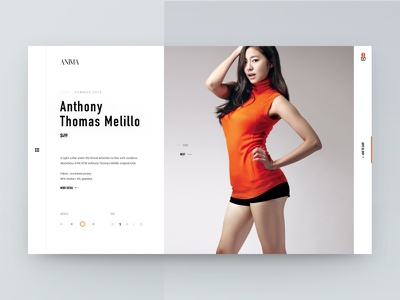 Anima Dress Store concept dress ecommerce shop store girls interface ui ux web white website