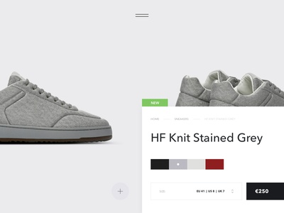 Veonix - Product Page white style sneakers shoes interaction grid black minimal fashion e-commerce ecommerce store shop interface concept website web ux ui