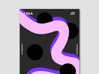 Day 344 - Swirl contemporary minimal design colour graphic daily designer illustration ux logo mobile website type poster poster collection 365 days poster