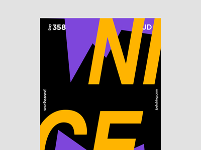 Day 358 - Nice contemporary minimal design colour graphic daily designer illustration ux logo mobile website type poster poster collection