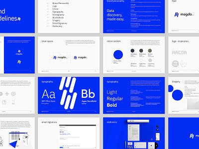 Magda Rebranding - Brand Identity Guidelines identity design brand identity graphic design design brand guidelines