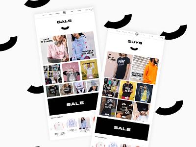 Landing pages for Plant Faced Clothing - by gender browse web designer webdesign web design ui design ui graphic design design