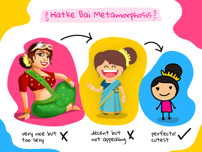 Metamorphosis stick-figure vector bai women illustration