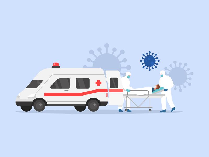Ambulance. Coronavirus.