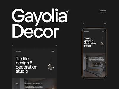 Gayolia Decor - interior design studio clean ui interior design type minimal website web typography ux ui design