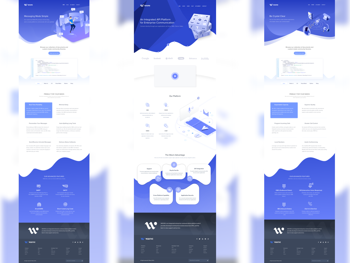 Wavni Web UI mockup Rebound userinterface web vector website template website mockup web mockup wavni