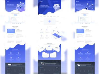 Wavni Web UI mockup Rebound