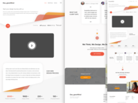 Landing Page Designer Mind Concept
