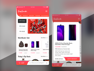 eCommerce Shopping Application Concept concept cart app checkout user interface application ui app screen ecommerce app shopping app shopping