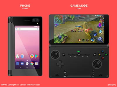 [Concept] GPD XD Dual Side Screen xd gaming phone adobe