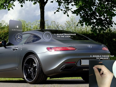 Mixed Reality - Car Lock concept lock glasses smart app car mixed reality