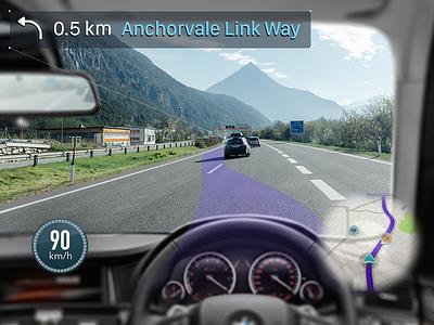 Mixed Reality - Waze / Navigation Concept waze navigation mixed reality