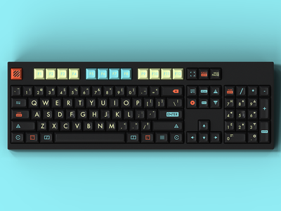Massdrop x Glimy DSA 2077 Custom Keycap Set keycaps keycap futuristic ui futuristic future massdrop icons set icons design key caps keyboard