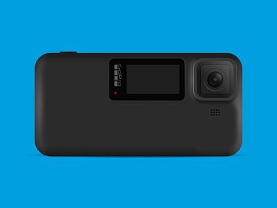 [Concept] GoPro Explorer Phone adobe vector concept illustration xd design adobexd camera phone gopro