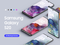 Samsung Galaxy S20 - 20 Mockups Scenes - PSD s20 bundle scenes mobile device uiux ui android mockups samsung galaxy s20 mockup galaxy s20 mockup s20 mockup galaxy s20 samsung galaxy s20 samsung s20 mockup graphic design psd