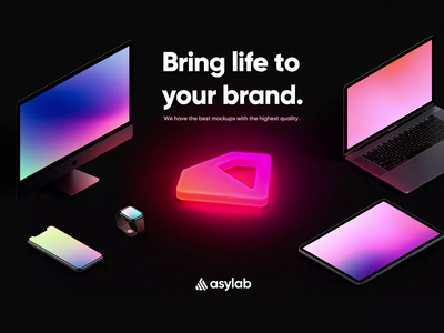 Asylab - Illustration - Premium Membership colourful ux minimal elegant modern gradient dark design glow in the dark glow neon asylab premium membership premium user interface uiux ui design branding illustration graphic design
