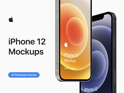 iPhone 12 - 20 Mockups Scenes - PSD ui graphic design psd premium mockup uiuxdesign userinterface uiux apple iphone 12 iphone 12 pro mobile display presentation iphone 12 mockup 12 mockup 2020 5k iphone mockups iphone mockup premium