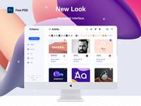 Behance App Redesign UI/UX - Free PSD