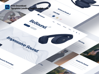 Template Landing Page Headphones