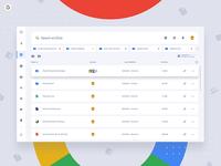 Google Drive Concept Dashboard