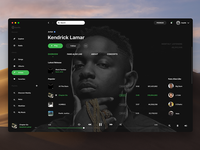 Free PSD Spotify Redesign Concept