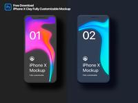 iPhone X Clay Fully Customizable Mockup