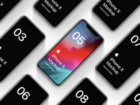 Freebie Official Apple iPhone X Mockups Vol.1