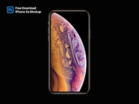iPhone XS Mockup - Freebie PSD