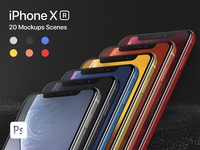 iPhone XR 20 Mockups Scenes 5K - PSD