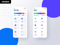 Freebie iOS Storage App - PSD
