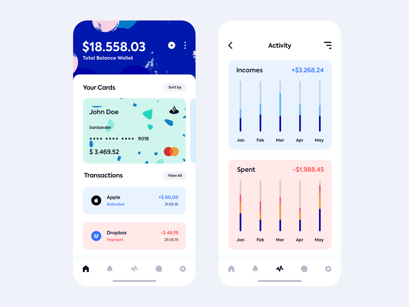Freebie iOS Wallet App by Asylab - PSD apple concept ux design ui design clean minimal design vector wallet app ios wallet freebie download app uiux free user interface graphic design ui psd