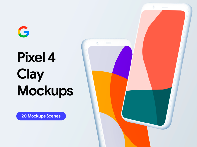 Google Pixel 4 - 20 Clay Mockups Scenes - PSD android download clay custom 4xl xl 4 pixel 4 mockups pixel 4 mockup mock up mockups google pixel 4 google pixel google ui uiux app user interface mockup psd