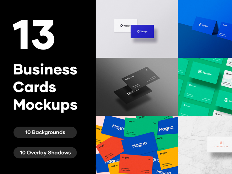 13 Premium Business Cards Mockups - PSD design modern elegant psd mockup identity branding identity branding business card template business card design business card mockup business cards business card mockup psd graphic design