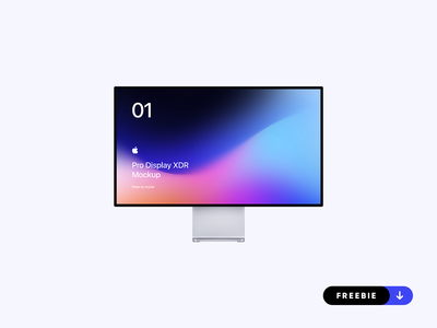 Freebie - Apple Pro Display XDR Mockup