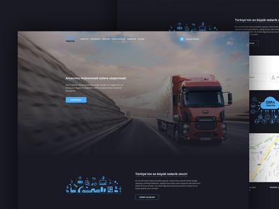 Erpa Tuketim web ux ui supply page onepage mobile landing homepage development design