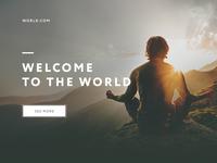 Start page minimalistic design