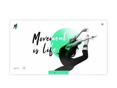 Dance studio website design graphic design uidesign ui web webdesign website