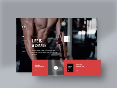 The Awesome: Landing Page #1 fitness webdesign landingpage