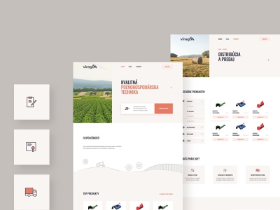 VIRAGO: Web Development agricultural iconset design webdesign