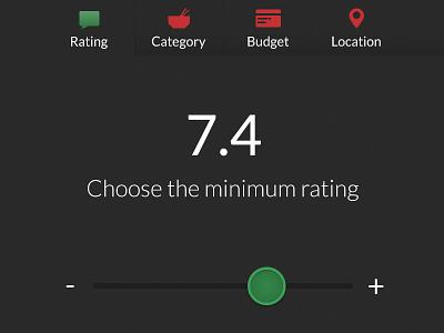 Rating slidebar
