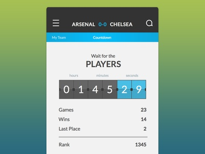 UFL Countdown iphone app countdown