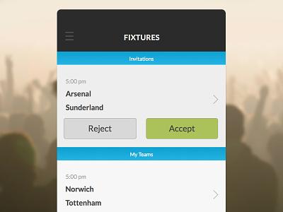 UFL Fixtures iphone app fixtures