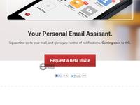 SquareOne Mail Landing Page