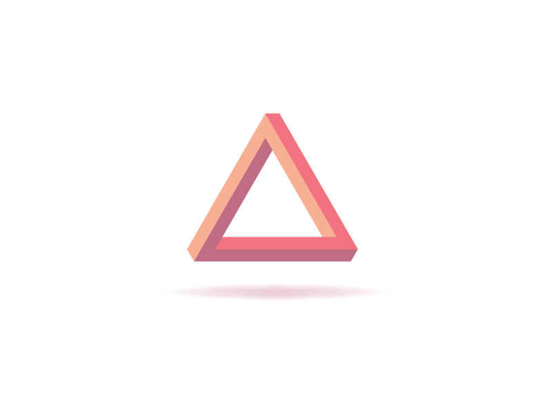 Impossible Triangle object impossible triangle branding vector illustration logo