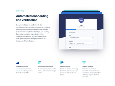 Connect Microsite animation platforms marketplaces product connect landing page