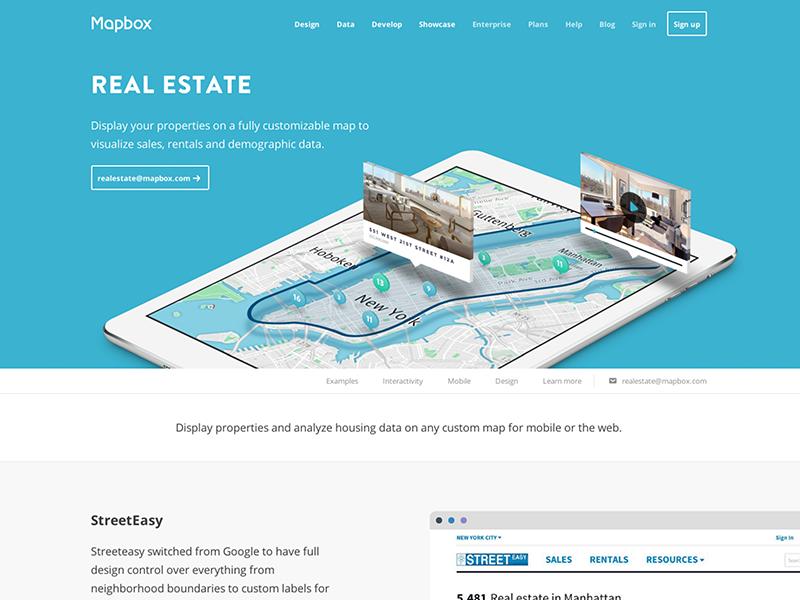 Mapbox Real Estate by Tatiana Van Campenhout on Dribbble