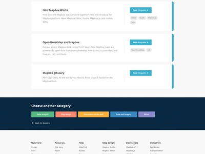 Mapbox Guides Redesign mapbox guides flat illustration docs ui ux toggle