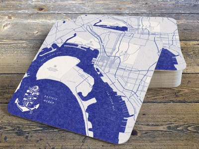 Map Coaster uss midway party san diego coaster map
